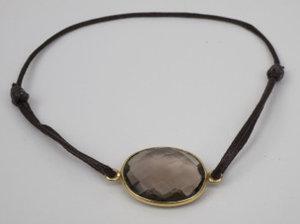 Armband Arma Ferre Löpknut Guld Smokey quartz