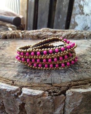 Armband från Lo-ika Milano Cerise/Rosa