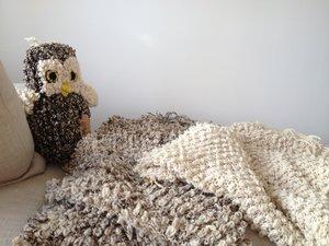 Filt Werannas Kenana Knitter Critters Looped Ull Vit