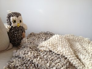 Filt Werannas Kenana Knitter Critters Looped Ull Grå