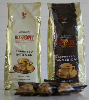 Kaffebönor BianCaffe Espresso Intenso Vit 1kg