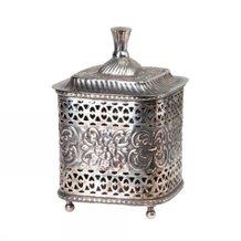 Förvaringslåda Affari Christie Box Mässing Silver